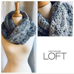 Ann Taylor Loft Faux Fur Infinity Scarf, Gray